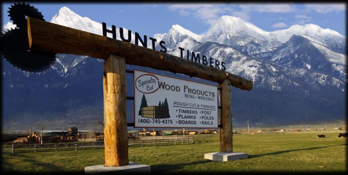 Hunts Timbers Rough Cut Lumber MT, Sawmill, Mill, Rough Sawn